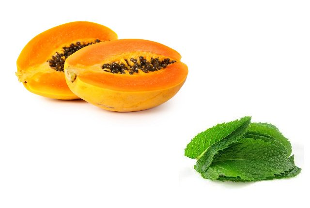 Mint Leaves And Papaya for oily skin