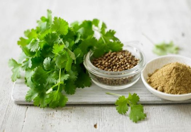 4) Coriander For Swollen Eyes