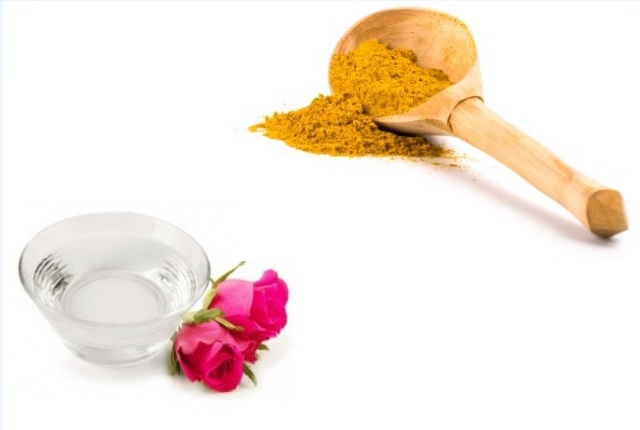 Turmeric And Rose Water For Unwanted Facial Hair