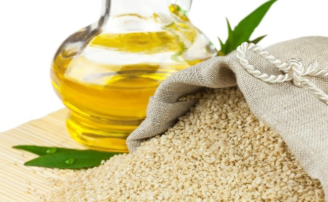 Sesame Oil for Cracked Heels