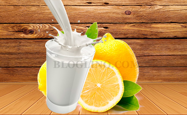 Milk with Lemon Juice for Piles