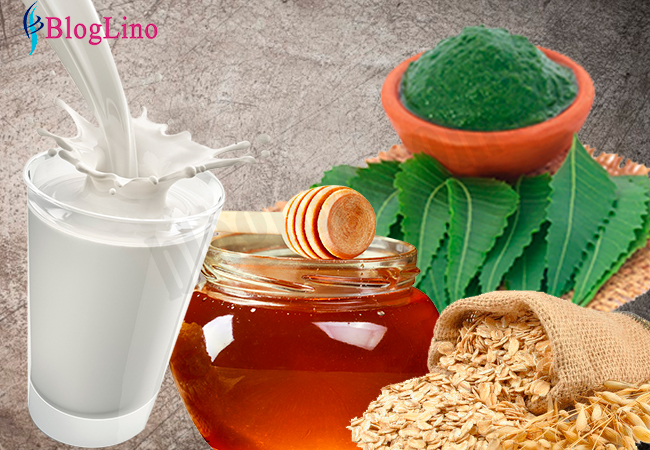 neem-honey-oatmeal-milk-face-pack-for-anti-aging