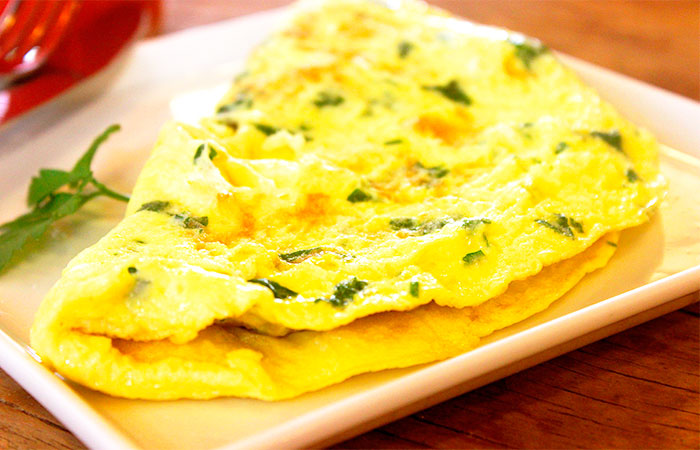 Omelet as a Simple and Healthy Breakfast