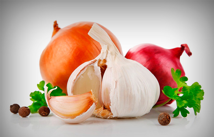 Onion and Garlic for Bruise