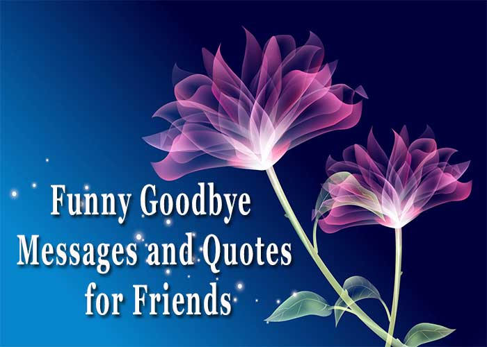 Funny Goodbye Messages and Quotes for Friends