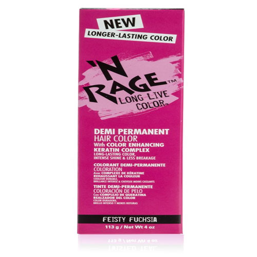N Rage long Live Demi-Permanent Hair Color – Twisted Teal